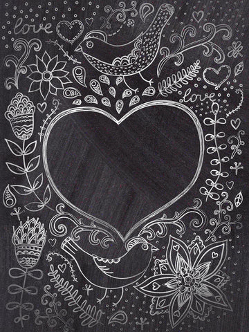 Chalkboard Doodles Printed Photography Backdrop / 9503 - DropPlace