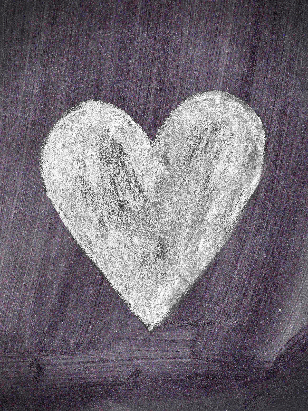 Chalkboard Heart Photo Background / 9506 - DropPlace