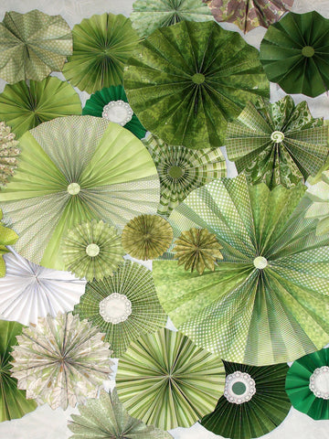 Green Thumb Printed Photo Background / 9644