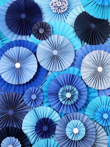 Lunch with Tiffany Blue Pinwheels Backdrop Printed Photography Background / 9669 - DropPlace