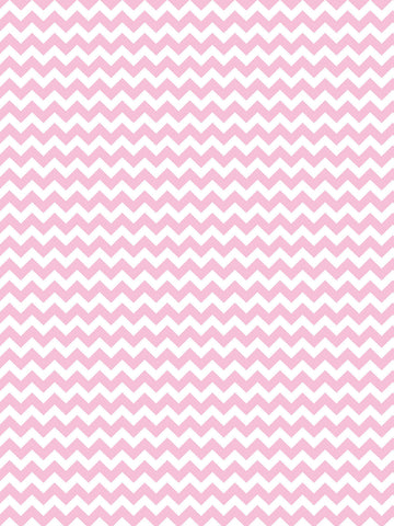 Bubblegum Chevron Printed Photo Backdrop / 9805 - DropPlace