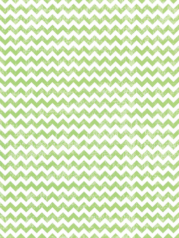 Distressed Lime Chevron Printed Photo Background / 9811