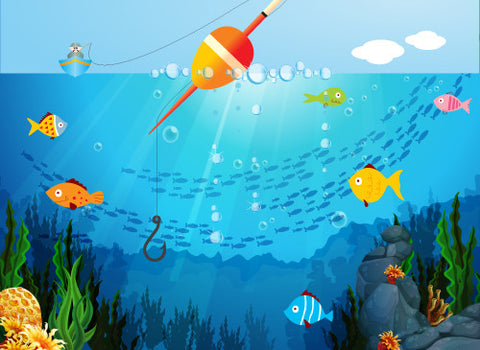 Gone Fishin' Printed Photo Background / 8193 - DropPlace