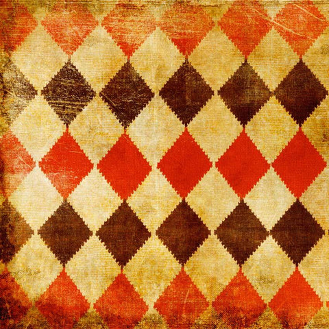 Photography Background - Red Harlequin Checkered Pattern - 1057