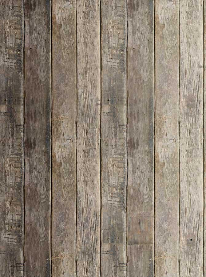 Printed Harvest Brown Wood Floor Photo Backdrop - 1069