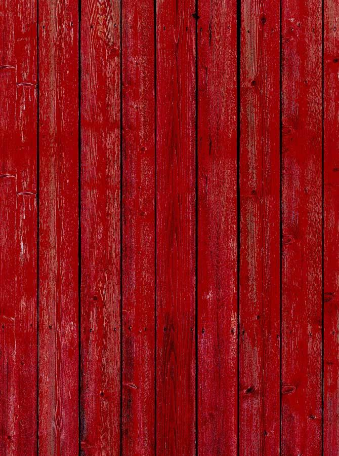 Red Barn Wood Photography Backdrop - 1078 - DropPlace
