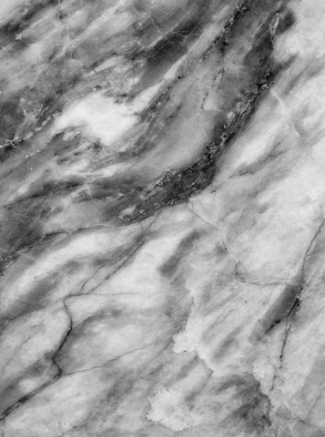 Printed Marble Black And White Printed Backdrop - 1085