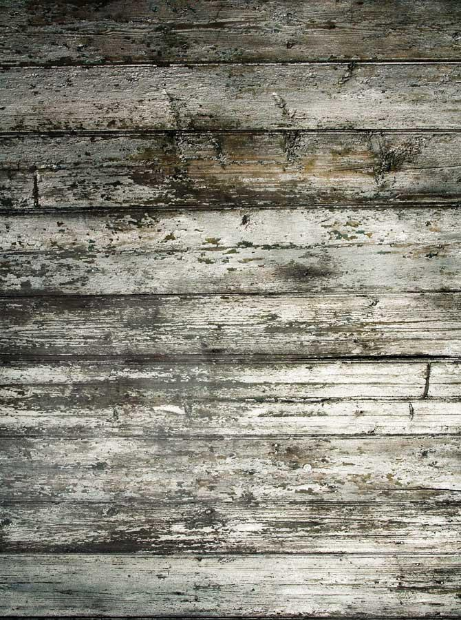 Printed Gray Green Timber Wood Floor Backdrop - 1092 - DropPlace