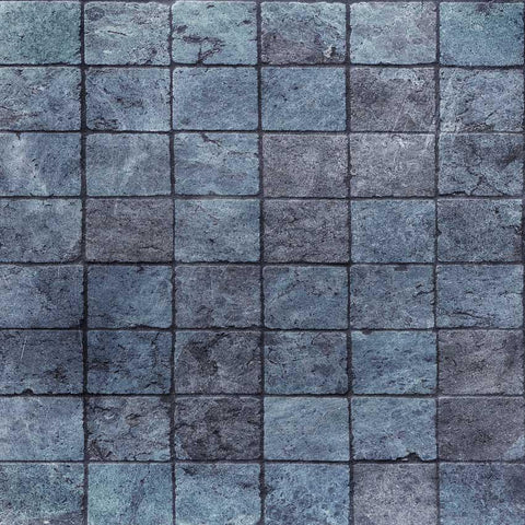 Blue Stone Printed Photography Wall or Floor Backdrop - 1116 - DropPlace