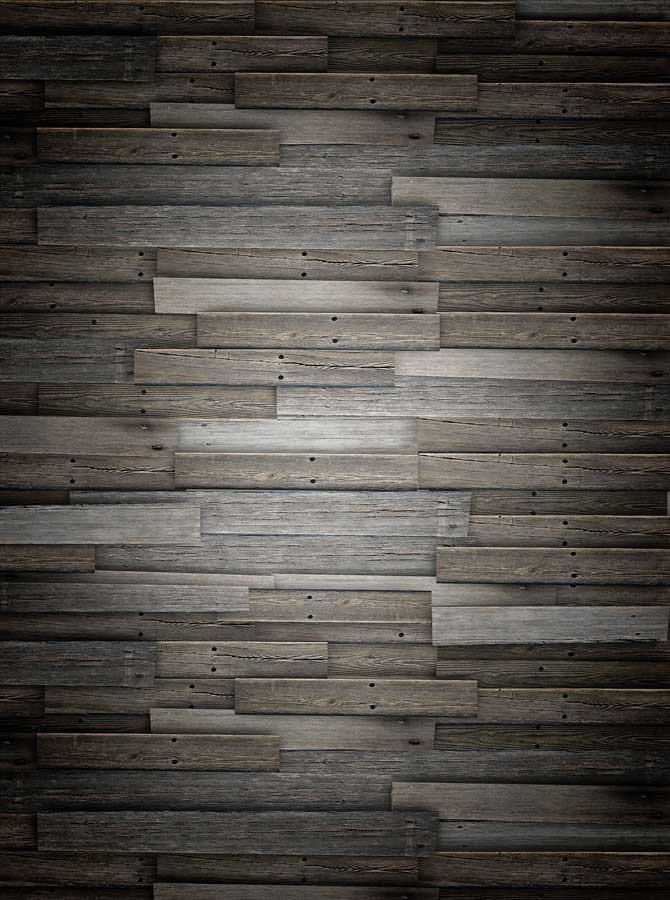 Moody Gray Wood Backdrop - 1254