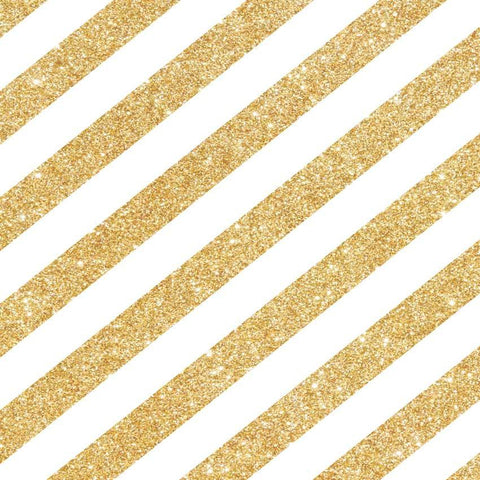 Printed Metallic Gold Glitter Stripes Backdrop - 1436