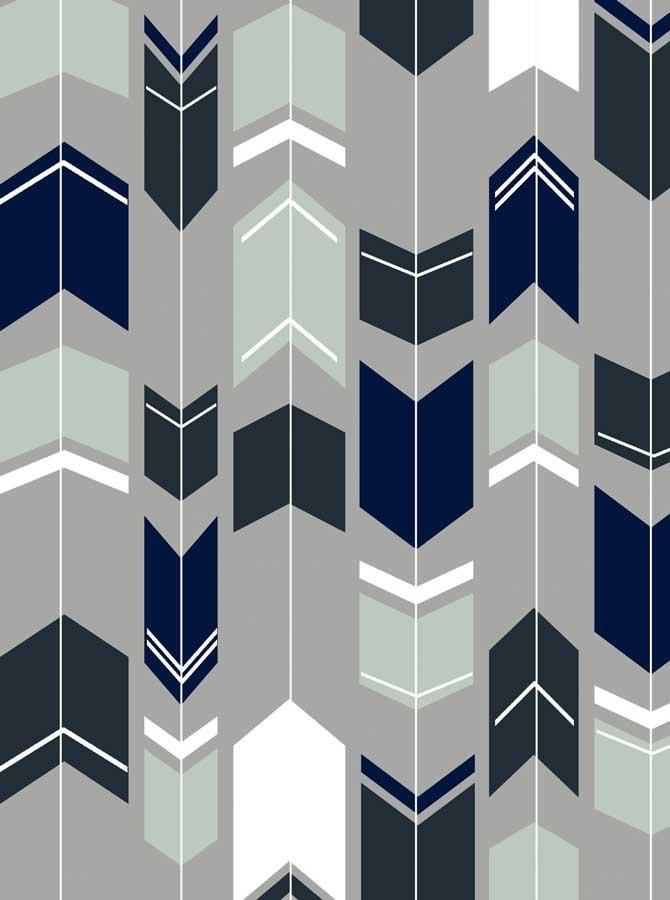 Printed Arrows Grey Backdrop - 1439 - DropPlace