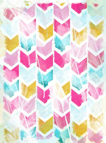 Printed Distressed Colorful Pattern Backdrop - 1466