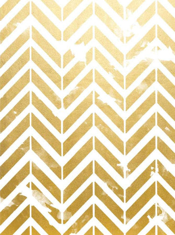 Printed Gold Chevron Metallic Backdrop - 1496 - DropPlace