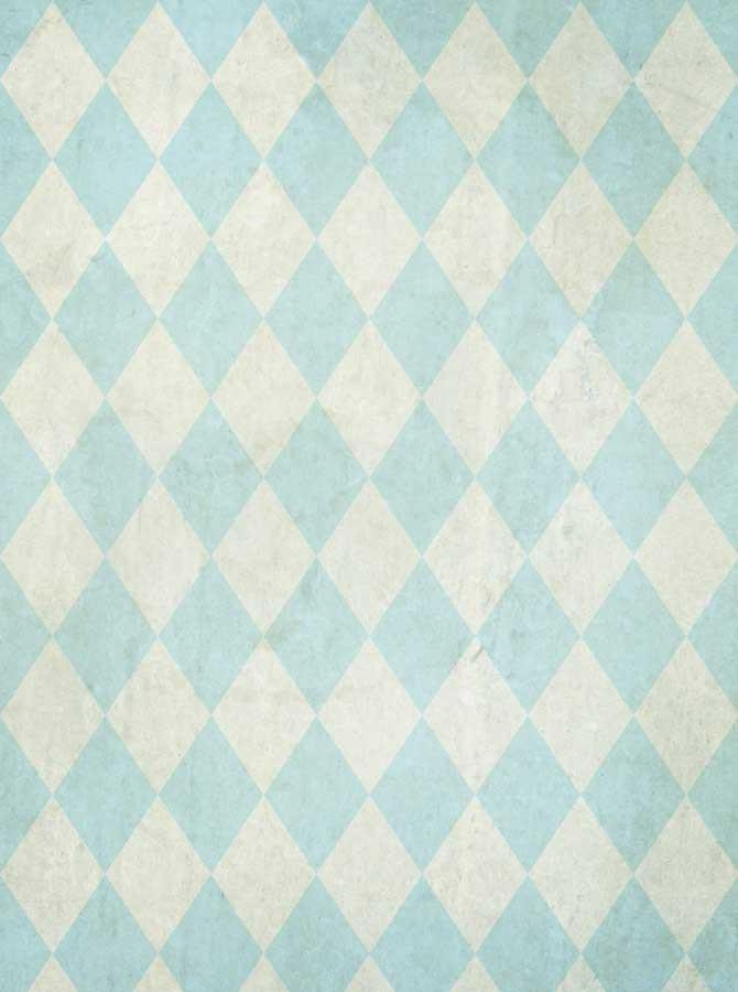 Light Blue Harlequin Check Backdrop - 1508 - DropPlace