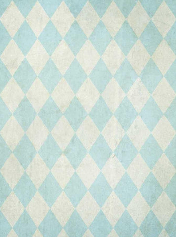 Light Blue Harlequin Check Backdrop - 1508