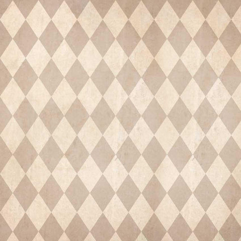 Printed Tan Harlequin Check Backdrop - 1509 - DropPlace