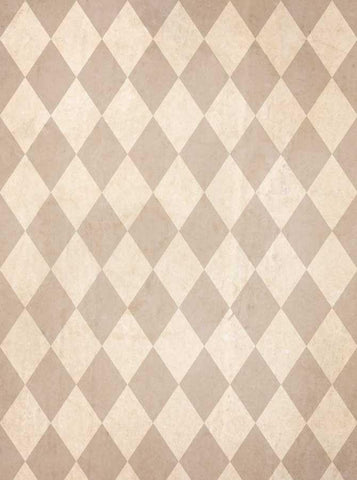 Printed Tan Harlequin Check Backdrop - 1509