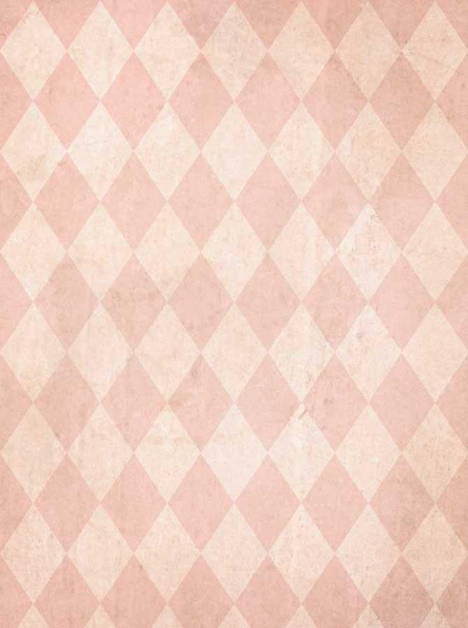 Blush Pink Harlequin Check Photography Backdrop - 1511 - DropPlace