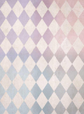 Blush Pastel Harlequin Check Backdrop - 1512 - DropPlace