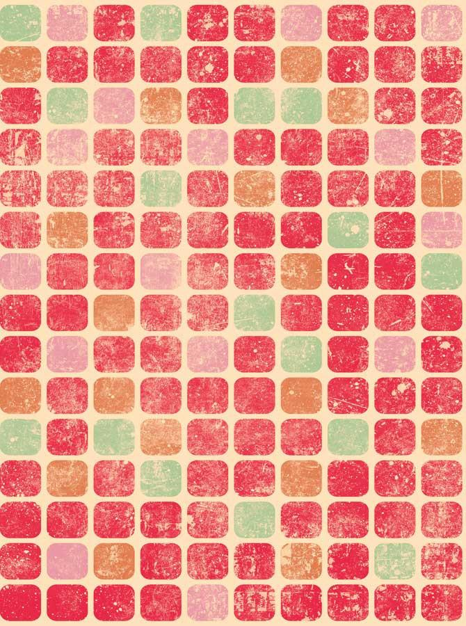 Red Colorful Squares Backdrop - 1688