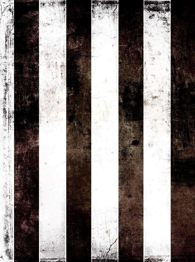 Printed Black White Stripes Backdrop - 1808 - DropPlace