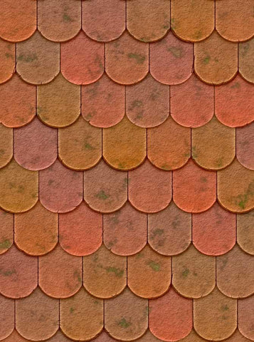 Colorful Shingle Scales Wall Backdrop - 2055 - DropPlace
