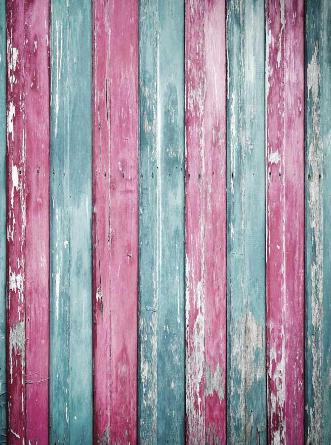 Baby Blue And Pink Wood Backdrop - 2224 - DropPlace