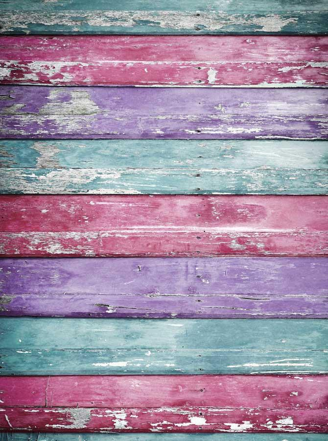 Baby Blue Pink Purple Wood Backdrop - 2225 - DropPlace