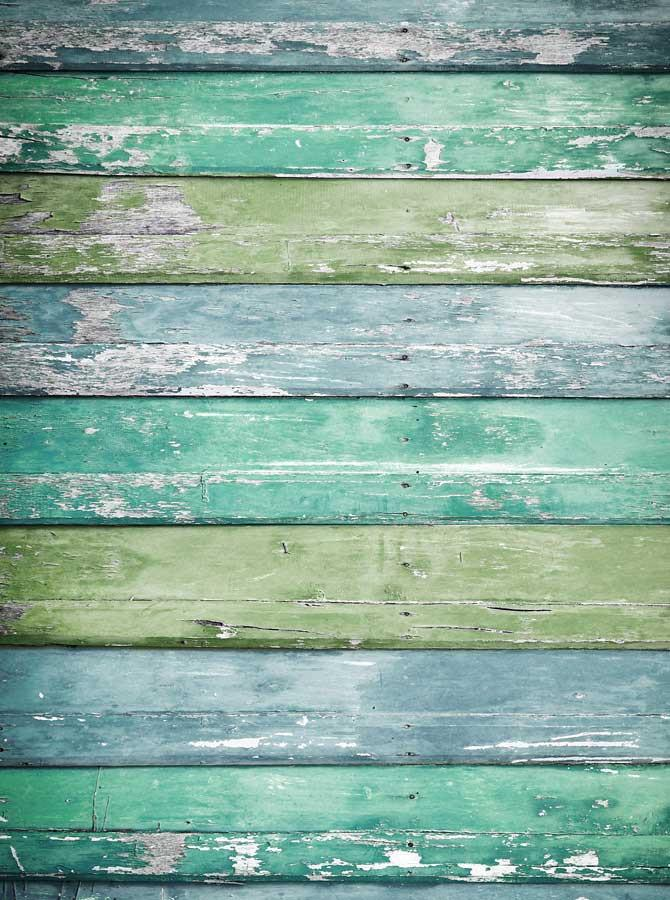 Teal Green Wood Backdrop - 2226 - DropPlace
