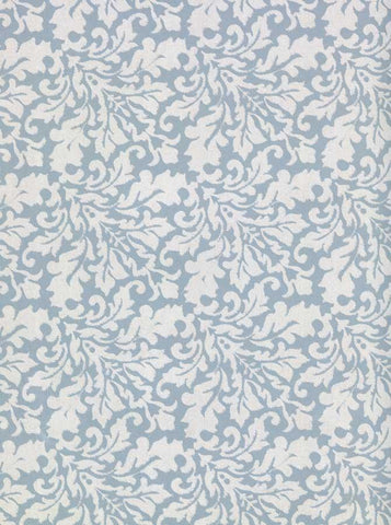 Printed Blue Lace Leaf Pattern Backdrop - 224