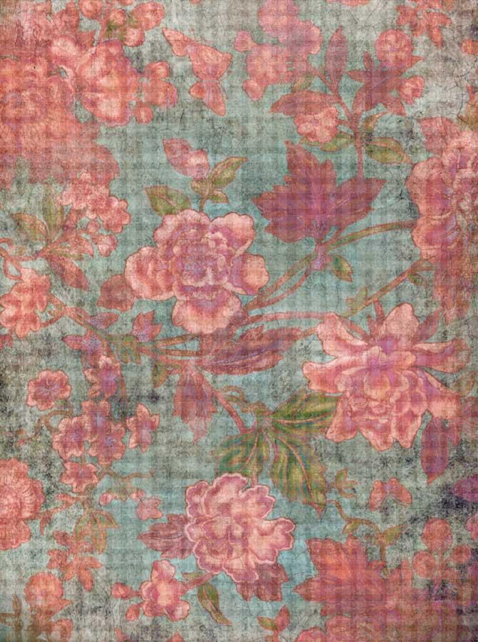Coral Floral Backdrop - 2268 - DropPlace