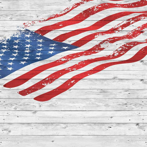 American Flag Wood Backdrop - 2271 - DropPlace