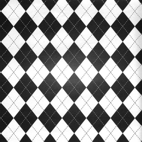 Argyle Black and White Backdrop - 2292 - DropPlace
