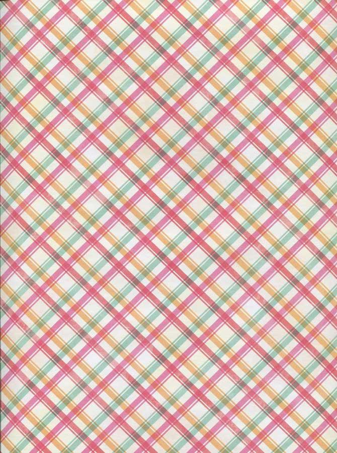 Pink Pastel Plaid Backdrop - 2332 - DropPlace