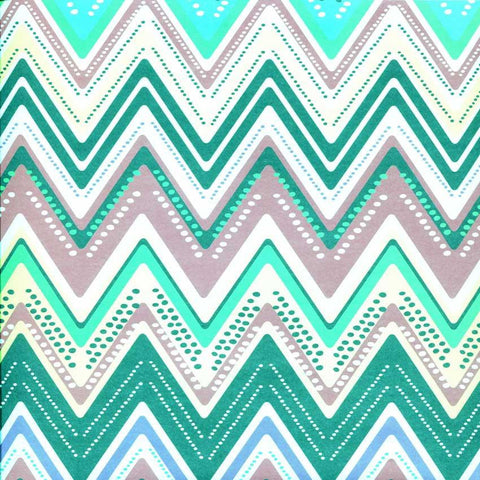 Printed Teal Jewel Chevron Backdrop - 2337 - DropPlace