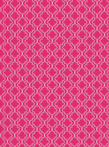 Moroccan Pattern Pink Backdrop - 2625 - DropPlace