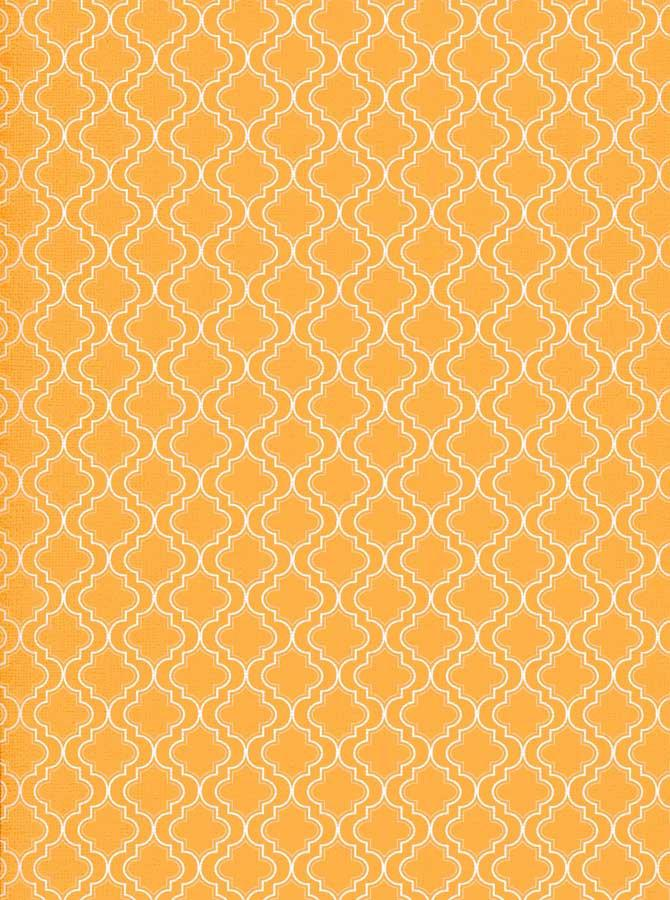 Moroccan Pattern Yellow Orange Backdrop - 2626 - DropPlace