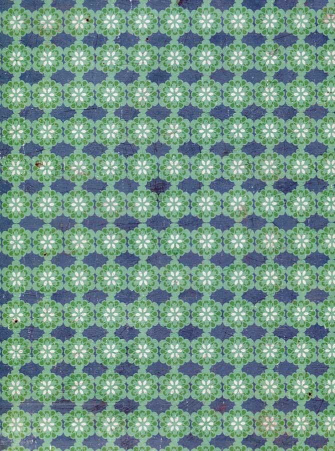 Green Blue Pattern Backdrop - 3549 - DropPlace