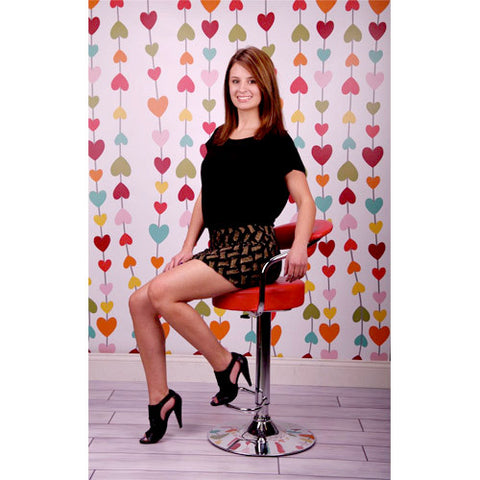 String of Hearts Printed Photo Backdrop / 356 - DropPlace