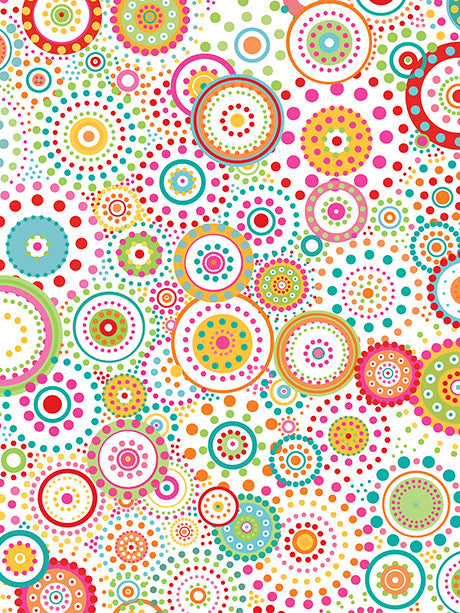 Playful Circles and Dots Printed Photo Background / 450 - DropPlace