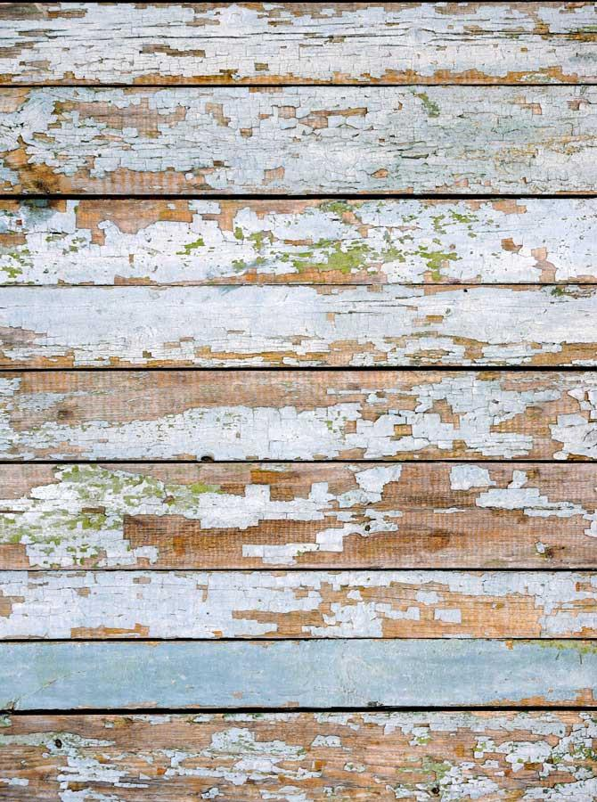Washed Wood Distressed Backdrop - 483 - DropPlace