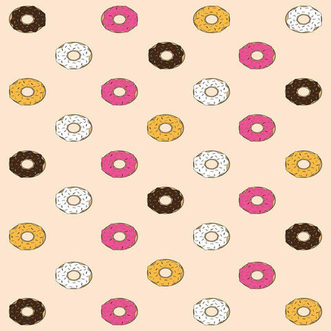 Printed Fun Donuts Pattern Background - 6106