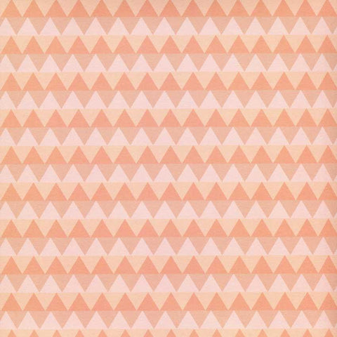 Printed Orange Peach Diamond Pattern Chevron Backdrop - 6116