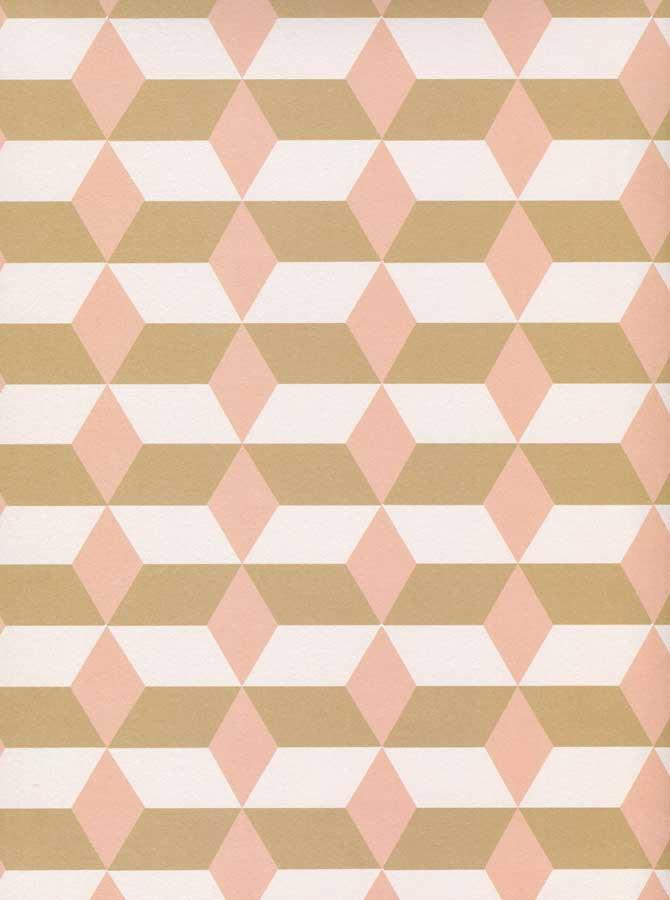 Printed Tan Blush Diamond Stripe Backdrop - 6122 - DropPlace