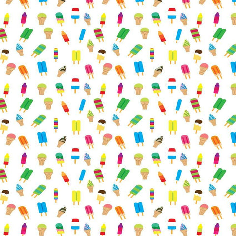 Printed Watercolor Popsicle Ice cream Backdrop - 6144 - DropPlace