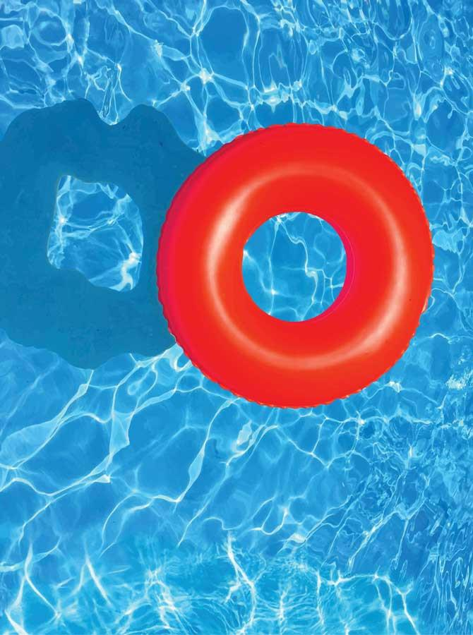Swimming Pool Floaty Donut Backdrop - 6146 - DropPlace