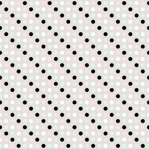 Black And Pastel Polka Dot On Grey Printed Backdrop - 6165 - DropPlace