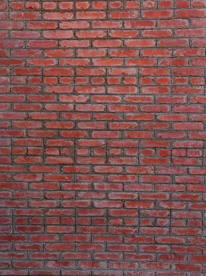 Red Brick Wall Backdrop - 6706 - DropPlace