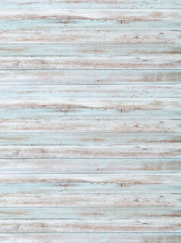 White Baby Blue Washed Out Wood Printed Backdrop - 6855 - DropPlace